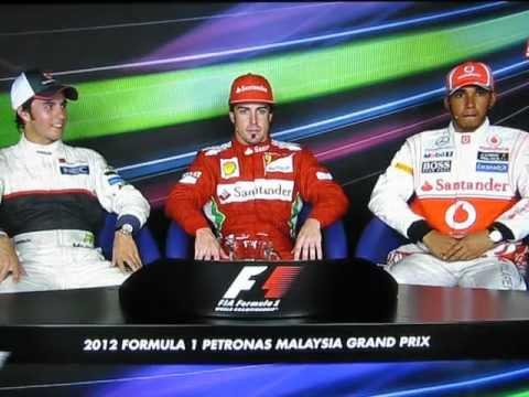 Post Race Interview - Malaysian GP 2012 (Formula 1)