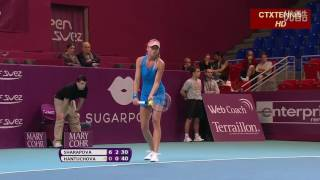 Maria Sharapova VS Daniela Hantuchova Highlight 2014 R2