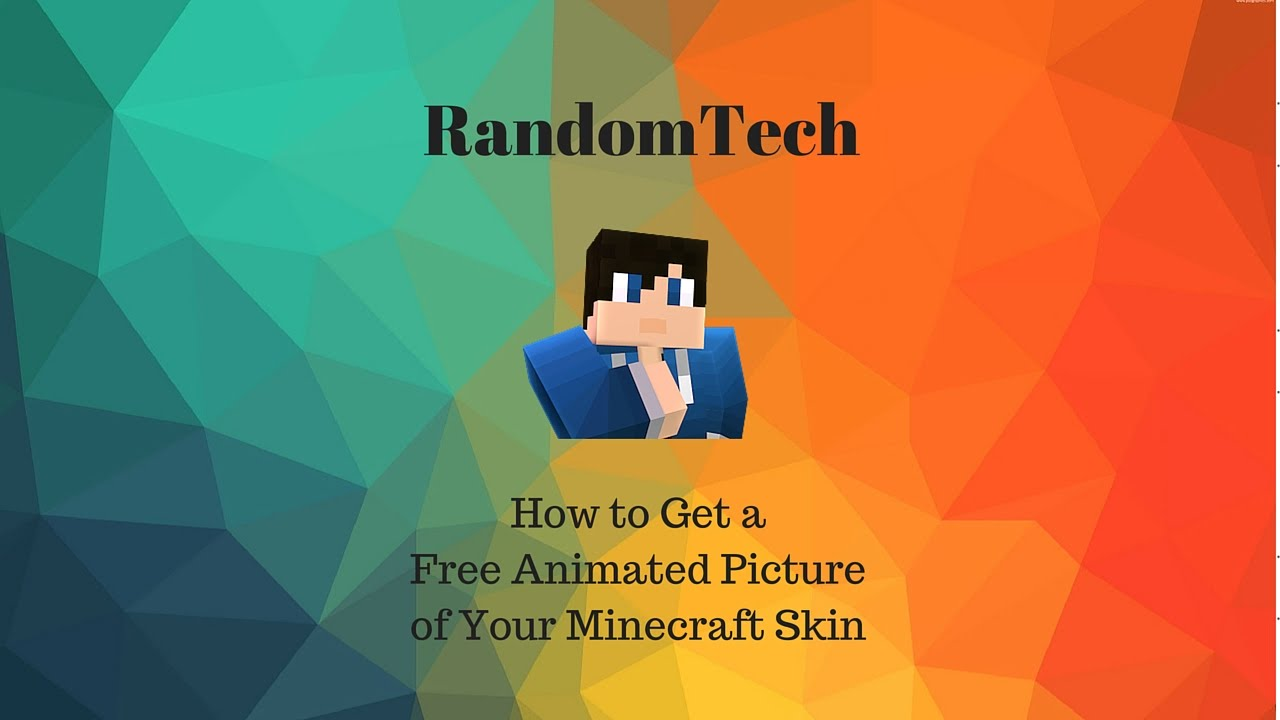 how to set your minecraft skin as your youtube picture