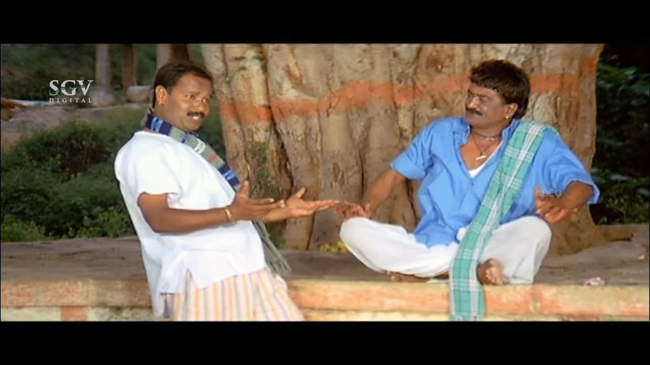 Sathyajith Hits Poly Boy Giving Flower to Wife | Best Comedy Scene of Sardara Kannada Movie