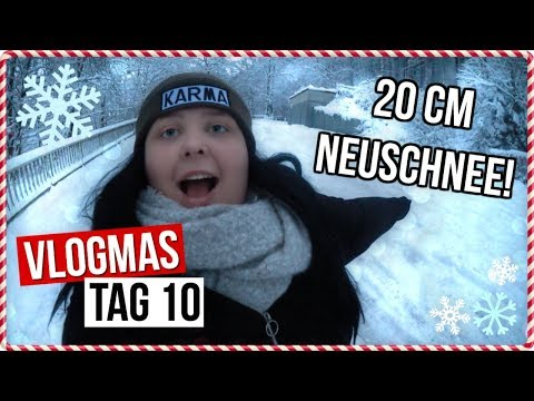 20cm Neuschnee!!❄️ | Ich bin arrogant? | Vlogmas Tag 10 | Vanessa Nicole