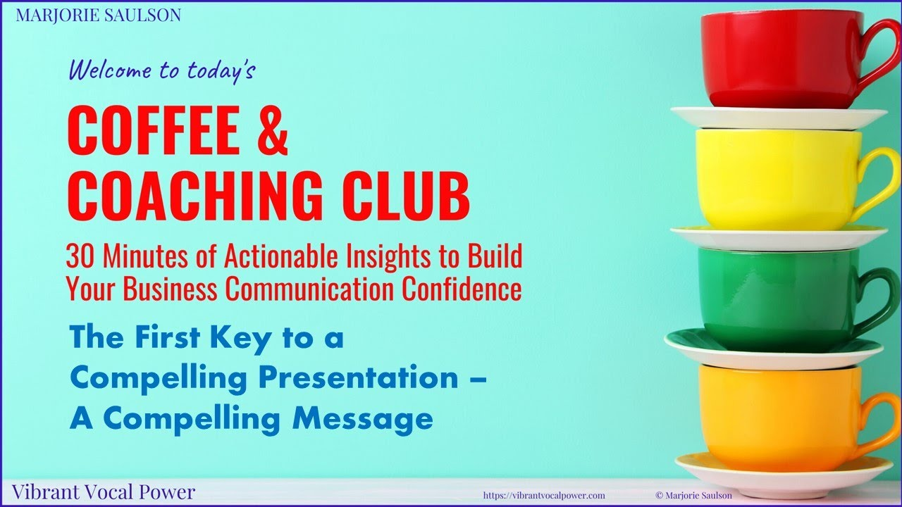 The First Key To A Compelling Presentation