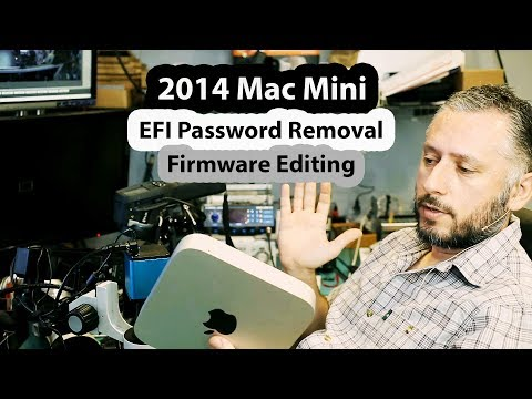 2014 Mac Mini EFI Password Removal And Unlock By Editing Firmware