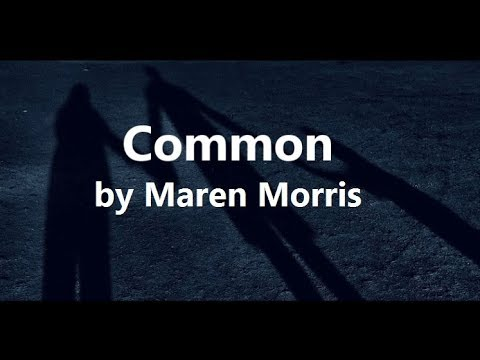 Maren Morris ft Brandi Carlile - Common (Lyrics)