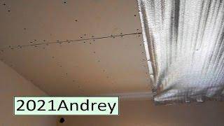 Крутим гипсокартон на потолок.  фильм  -  45