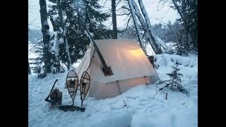 Ice Fishing and Camṗing with a SnowDog & Snowtrekker in the Adirondacks