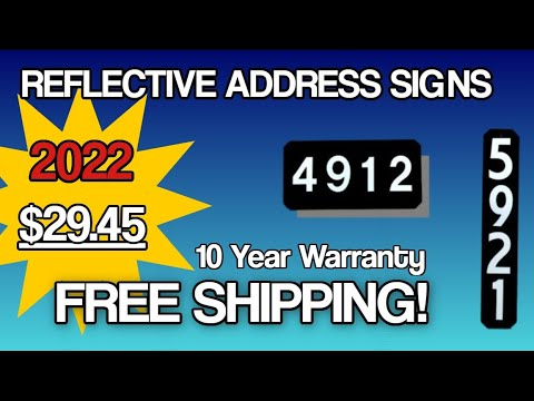 Reflective Address Signs - Reflective 911 Address Signs For Mailbox