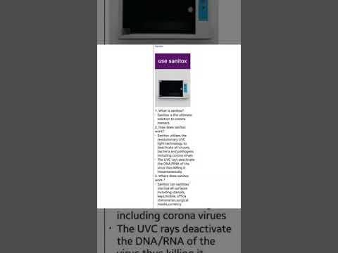 Sanitox 1.0 UV-C technology device