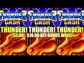 THUNDER CASH DELIVERS! $5-10 BETS! MUSTANG MONEY & THUNDER CASH Slot Machine (Ainsworth)