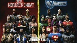 Mortal Kombat Vs DC Universe - All Endings (HD)