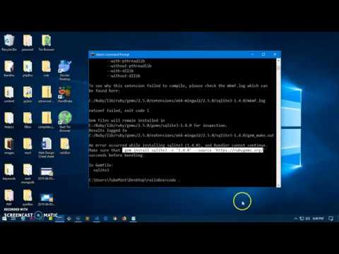 Fixed: sqlite3 gem error ruby on rails on Windows