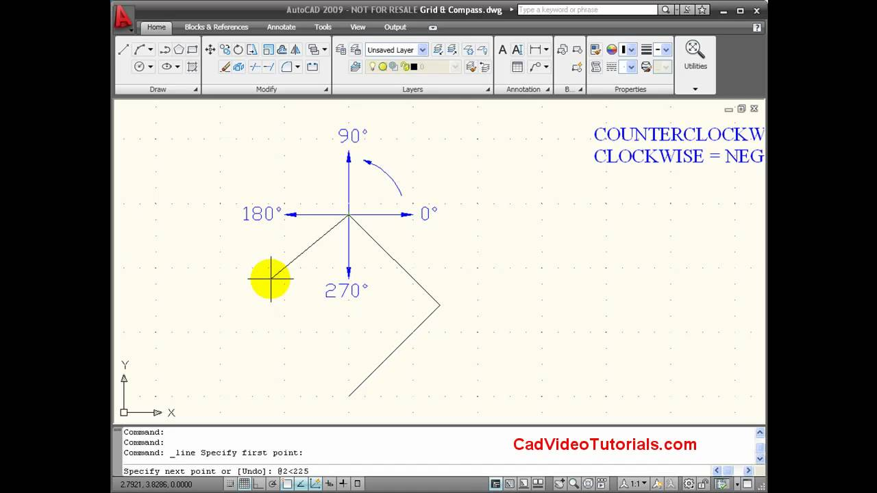 how to draw line with coordinates in autocad