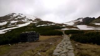 Kasprowy Wierch 1987m - Szlak pieszy ty - Panorama  15 Maj 2016