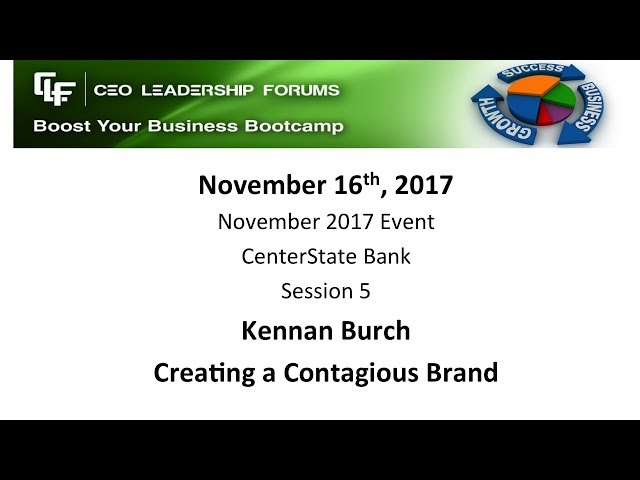 2017 11 16 CEO Leadership Forums Event - Session 05 Burch