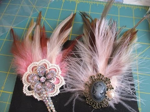 ab8ddfc9e Gorgeous Feather Brooch Tutorial - jennings644