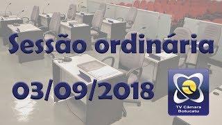 Sessão ordinária 03/09/2018