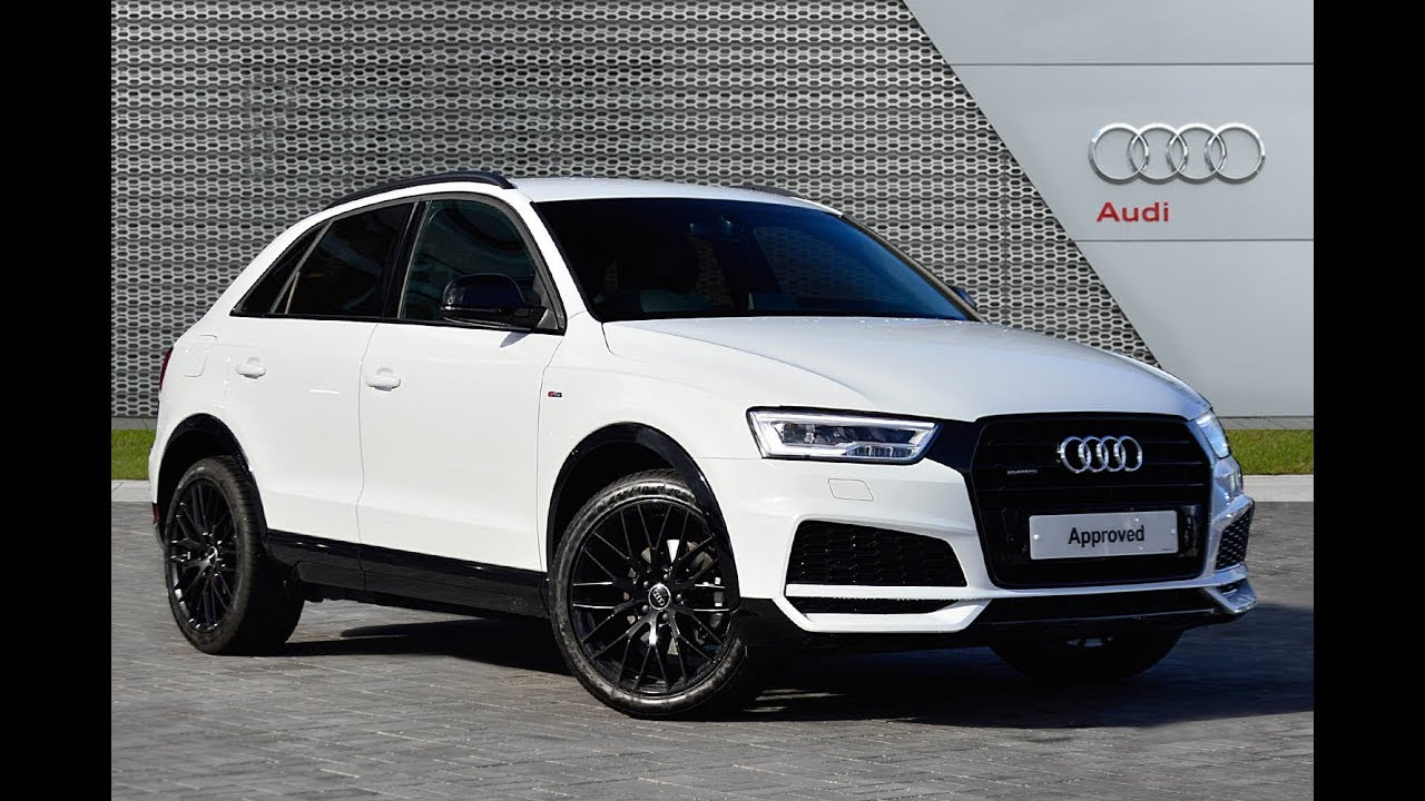 audi q3 tdi quattro s line black edition white 2017 youtube. Black Bedroom Furniture Sets. Home Design Ideas