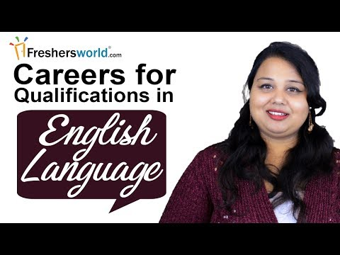 Careers for Qualifications in English Language–Top careers for graduates with degree in English