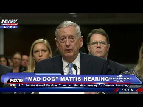"OPENING STATEMENT: James ""Mad Dog"" Mattis Speaks at Confirmation Hearing for Secretary of Defense"