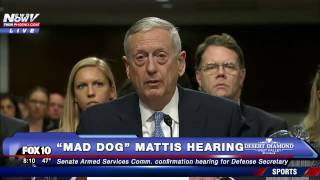 "OPENING STATEMENT: James ""Mad Dog"" Mattis Speaks @ Confirmation Hearing for Secretary of Defense-FNN"