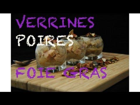 Verrines poires et foie gras