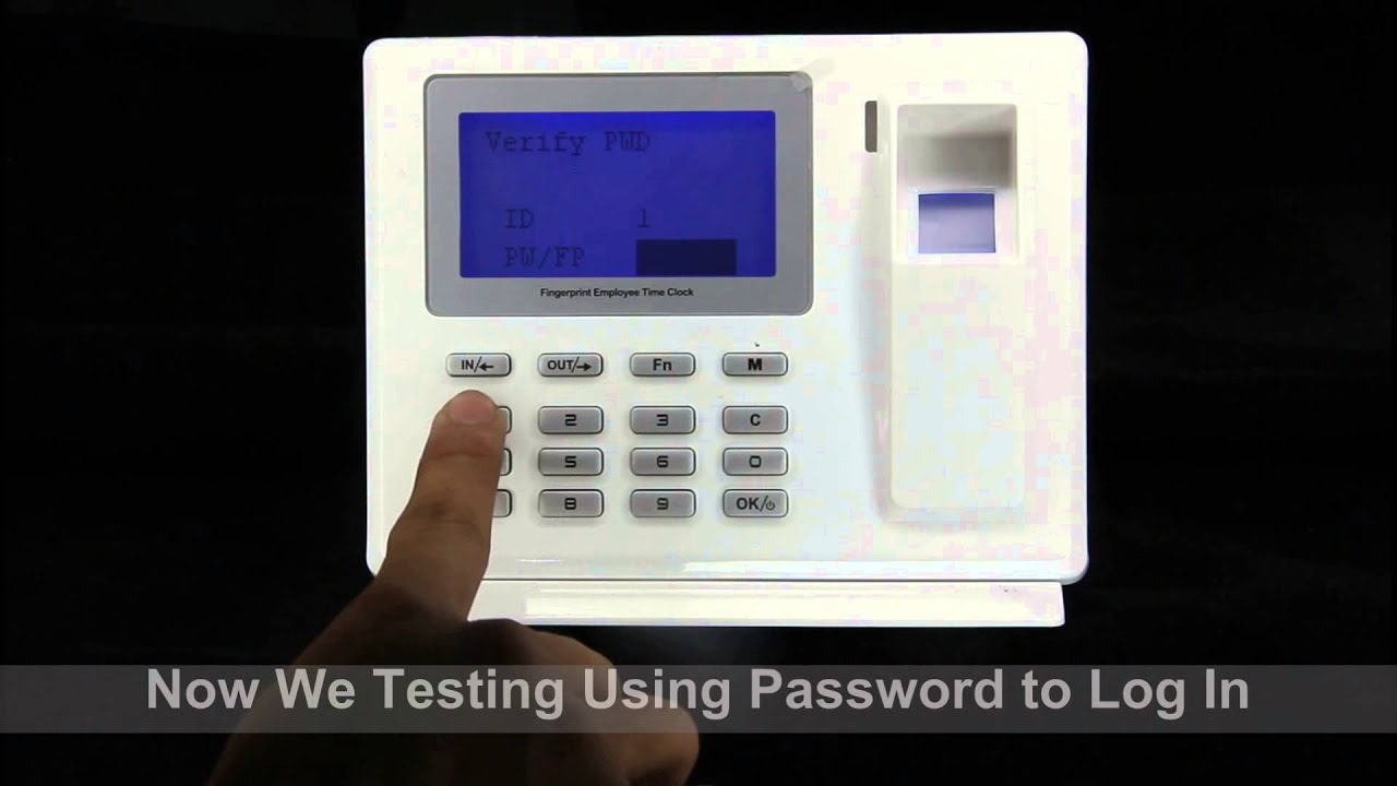 D200 Anviz Fingerprint Time Attendance Device Setup Manual