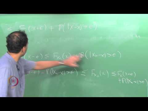 Mod-01 Lec-43 CONVERGENCE OF RANDOM VARIABLES – 1