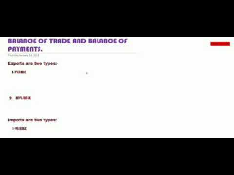 Balance of trade and balance of payments-exports and imports