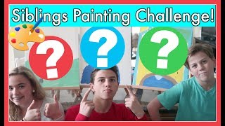 SIBLINGS PAINT EACH OTHER CHALLENGE!!!  *Vote for the BEST*!