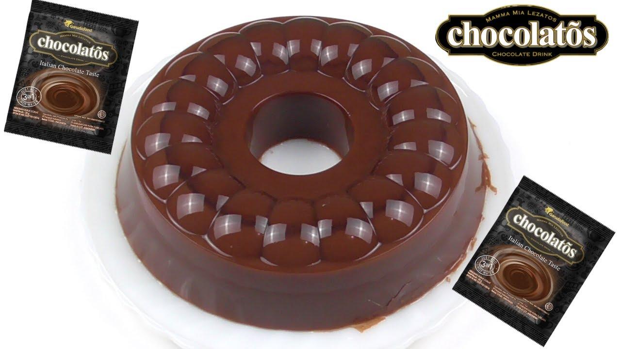 Puding Chocolatos Coklat Simple dengan Vla Instan