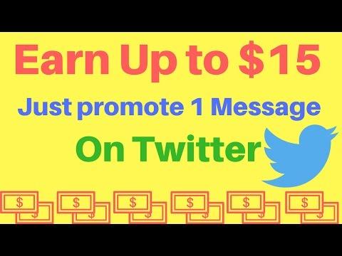 Earn $15 Making per Tweet on Twitter | Most Easiest Way make money online fast | in 2017