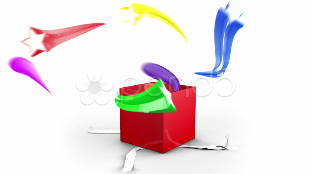 Gift box opening animation stock footage youtube negle Images