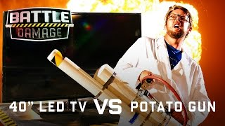 "40"" LED T.V. vs. Potato Gun - WIRED"