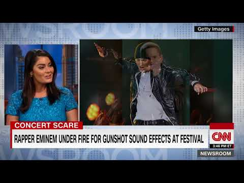 Eminem under fire for concert sound effects