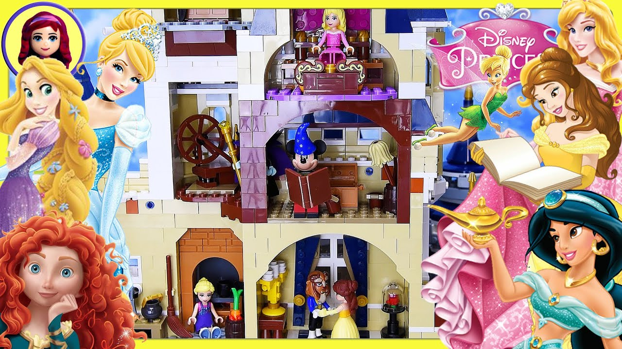 The Lego Disney Castle Full Of Disney Princesses Silly Play Kids