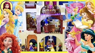 The Lego Disney Castle full of Disney Princesses Silly Play - Kids Toys