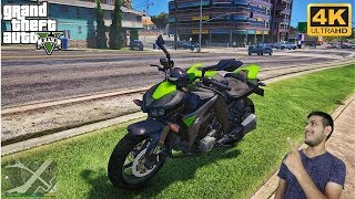 GTA 5 : DELIVERY OF MY NEW SUPERBIKE |KAWASAKI Z1000| 😍