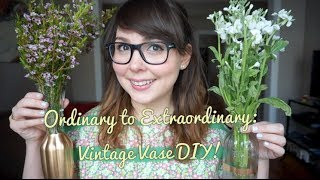 Ordinary to Extraordinary: Vintage Vase DIY! Thumbnail