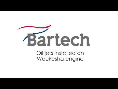 Oil jets installed on Waukesha engine at Bartech Marine Engineering