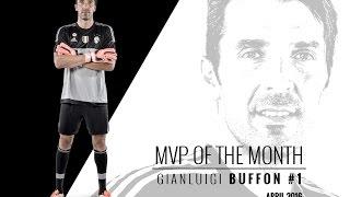A stunning April for MVP Buffon - Gigi, MVP di aprile per la Juventus