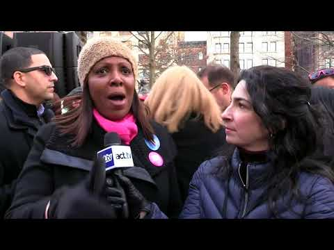 Letitia James at Women's March NYC 2018