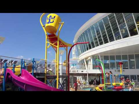Cruise video - Royal Caribbean Harmony of the Seas Deck 15 pool walk through ship tour #1
