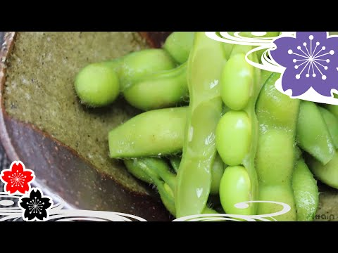 Boiled Edamame green soybeans✿Japanese Food Recipes TV