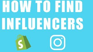 HOW TO FIND INFLUENCERS TO ADVERTISE YOUR DROP SHIPPING SITE