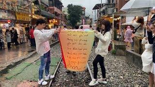 Trấn Thành Hari Thu Minh Lê Giang Trúc Nhân Ali Hoàng Dương Huỳnh Ân thả lồng đèn tại Đài Loan P1