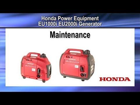 EU1000i and EU2000i Generator Maintenance