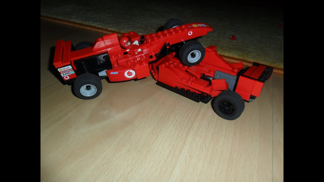 Lego Ferrari F1 Crash Youtube