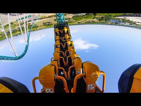 Altair 10 Inversion Roller Coaster Back Seat POV Cinecittà World Italy