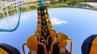 Altair 10 Inversion Roller Coaster Back Seat POV Cinecittà World Italy