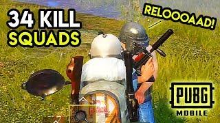 PAN vs. GROZA + 34-Kill Squad Game - PUBG Mobile